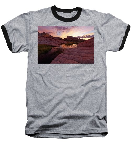 Baseball T-Shirt featuring the photograph White Pocket Sunset by Jonathan Davison
