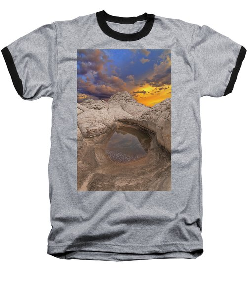 White Pocket Sunset Baseball T-Shirt