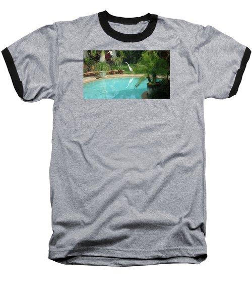 White Reflection Baseball T-Shirt by Val Oconnor