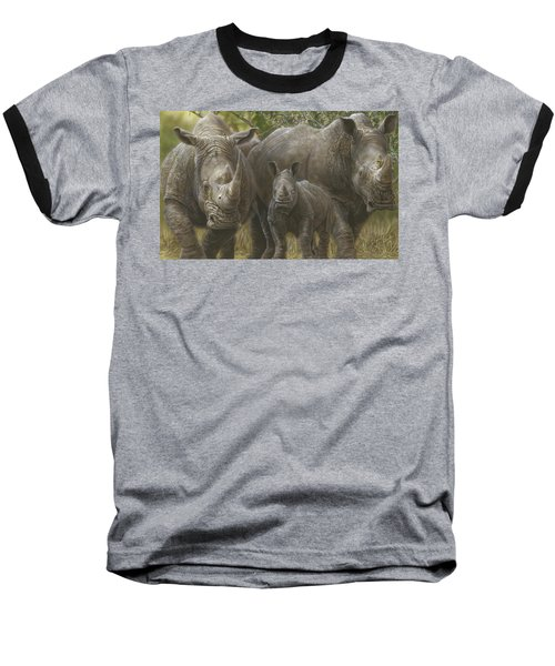White Rhino Family - The Face That Only A Mother Could Love Baseball T-Shirt