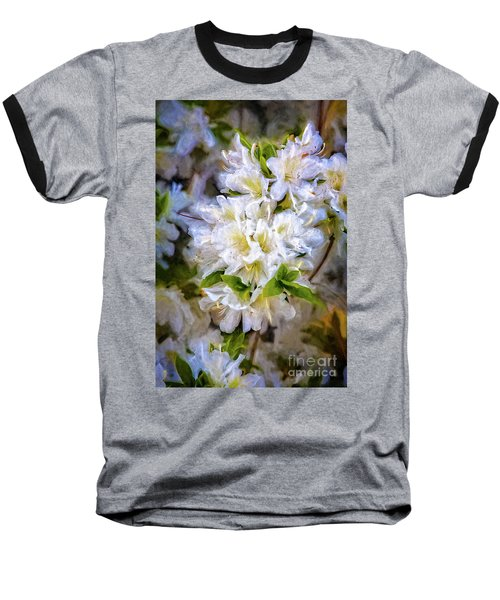 White Rhododendron Baseball T-Shirt