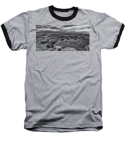 White Rim Overlook Monochrome Baseball T-Shirt