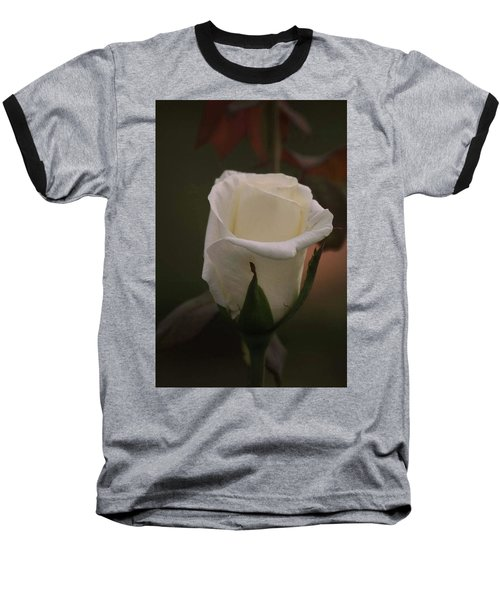 Baseball T-Shirt featuring the photograph White Rose by Donna G Smith
