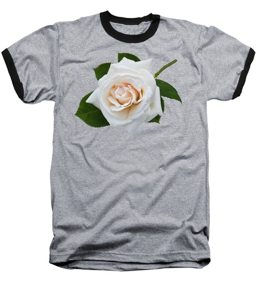 Baseball T-Shirt featuring the photograph White Rose by Jane McIlroy