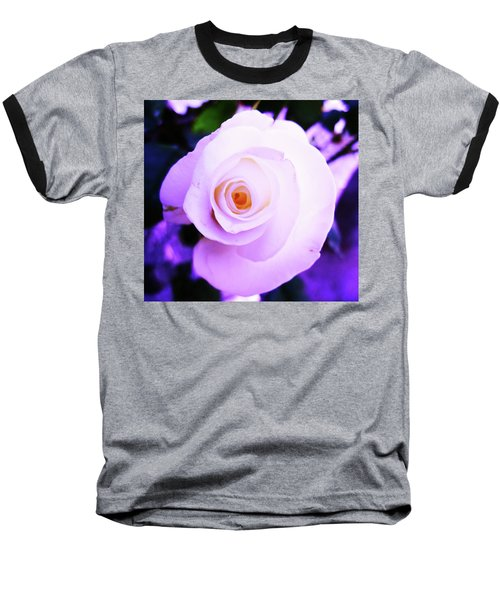 Baseball T-Shirt featuring the photograph White Rose by Mary Ellen Frazee
