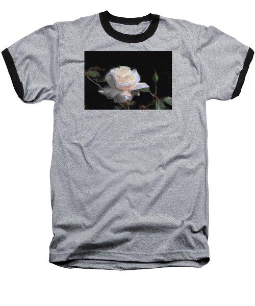 White Rose Painting Baseball T-Shirt