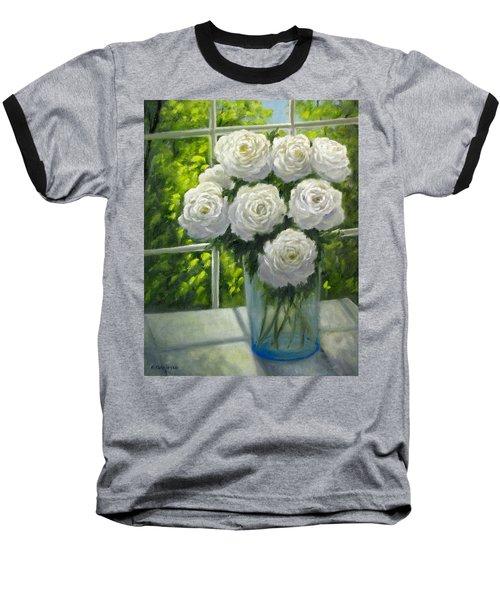 White Roses Baseball T-Shirt