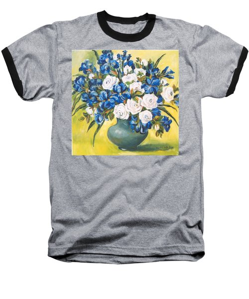 White Roses Baseball T-Shirt by Alexandra Maria Ethlyn Cheshire