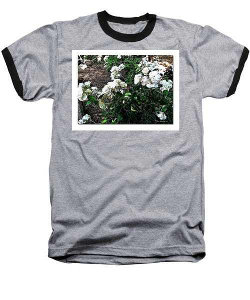Baseball T-Shirt featuring the photograph White Roses by Joan  Minchak