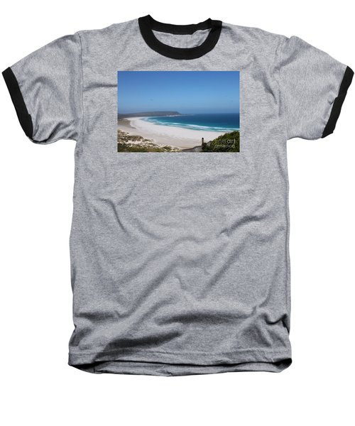 White Sand Beach Baseball T-Shirt by Bev Conover