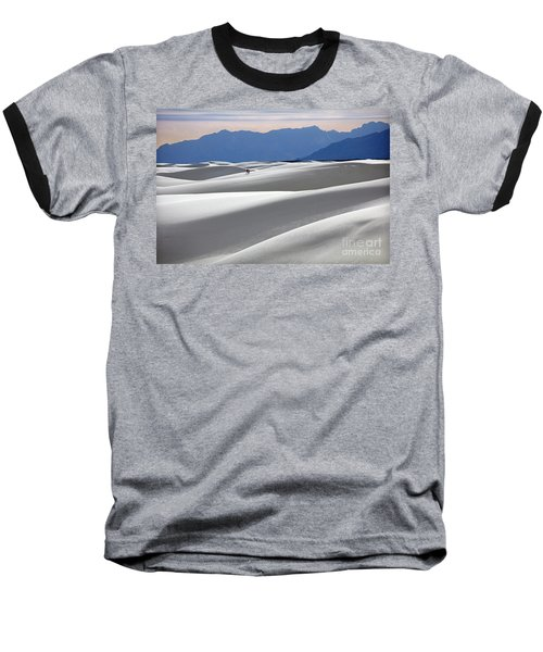 Baseball T-Shirt featuring the photograph White Sands Hikers by Martin Konopacki