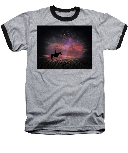 White Sands Horse And Rider #4c Baseball T-Shirt