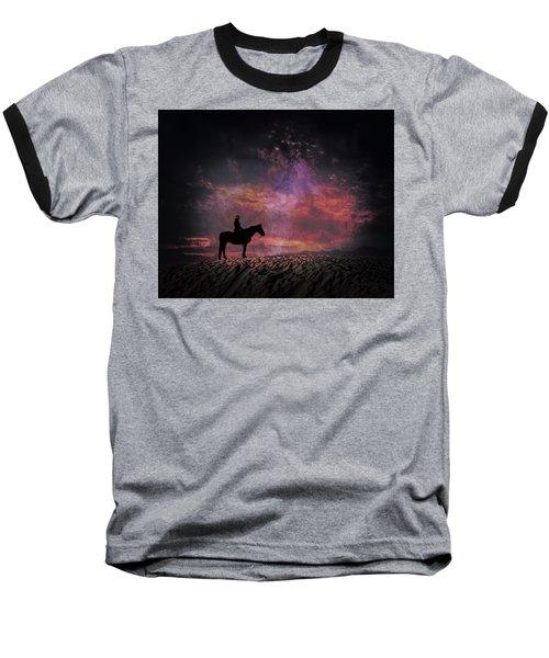 White Sands Horse And Rider #4c Baseball T-Shirt