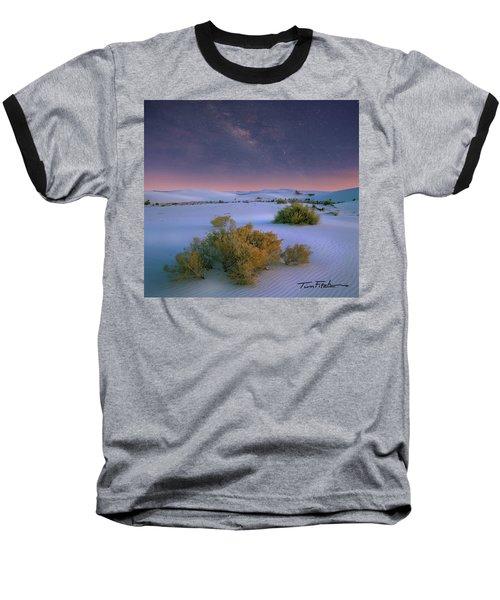 White Sands Starry Night Baseball T-Shirt by Tim Fitzharris