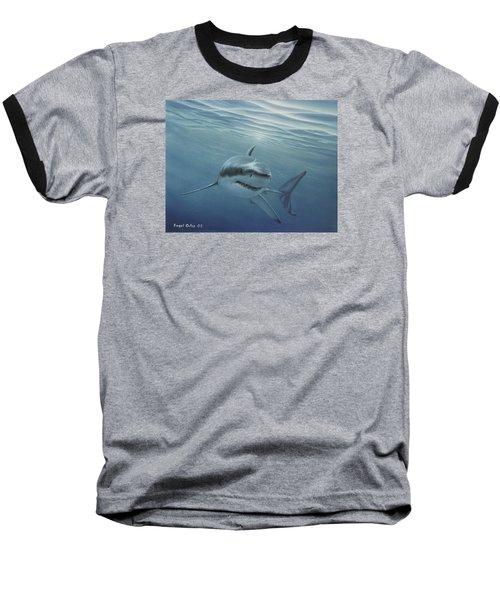 White Shark Baseball T-Shirt