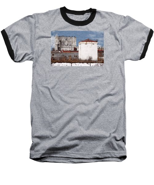 White Silo And Grain Elevator Baseball T-Shirt