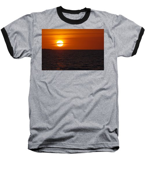 Baseball T-Shirt featuring the photograph White Street Pier Sunrise by Greg Graham