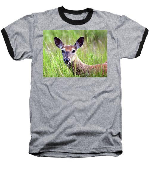 White Tail Doe Baseball T-Shirt