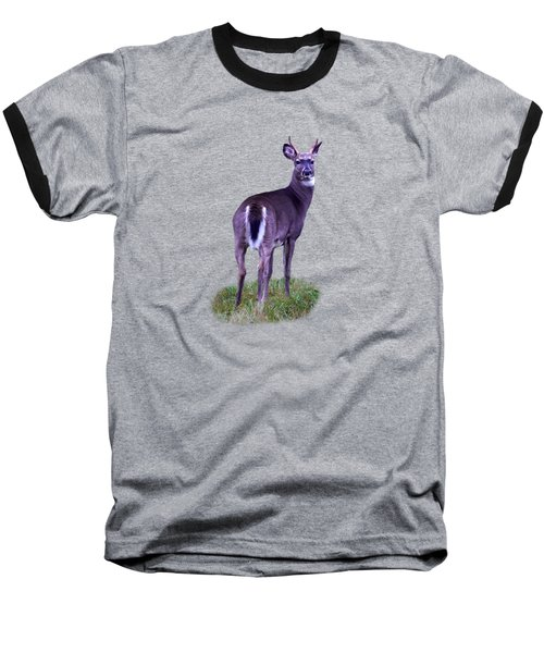 White Tail Transparent Baseball T-Shirt