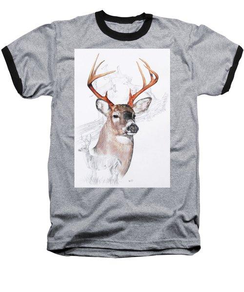 White-tailed Deer Baseball T-Shirt