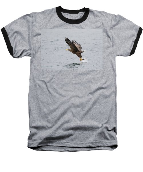 White-tailed Eagle Catching Dinner Baseball T-Shirt