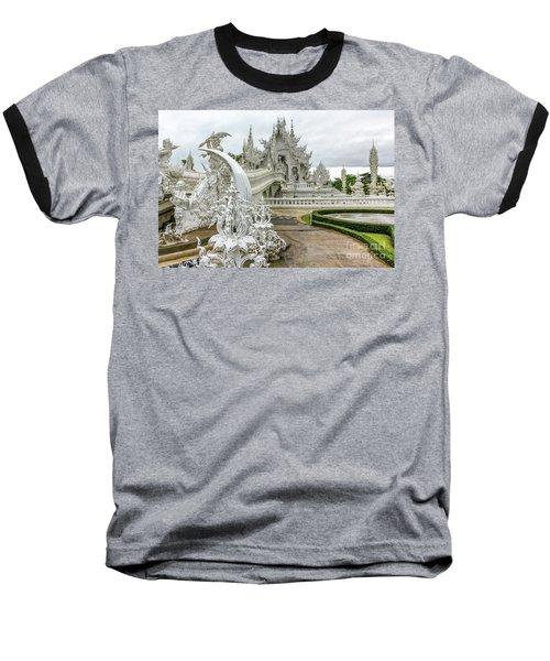 White Temple Thailand Baseball T-Shirt