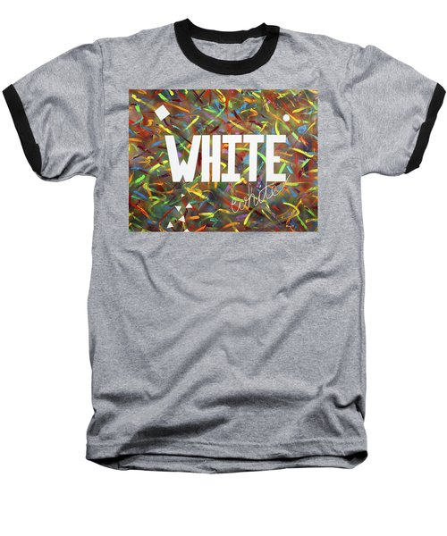 Baseball T-Shirt featuring the painting White by Thomas Blood