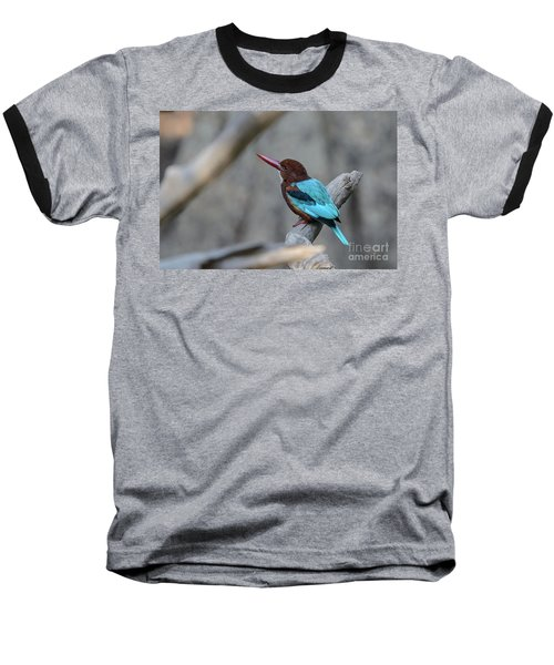 White-throated Kingfisher 02 Baseball T-Shirt