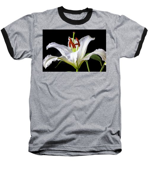 White Tiger Lily Still Life Baseball T-Shirt
