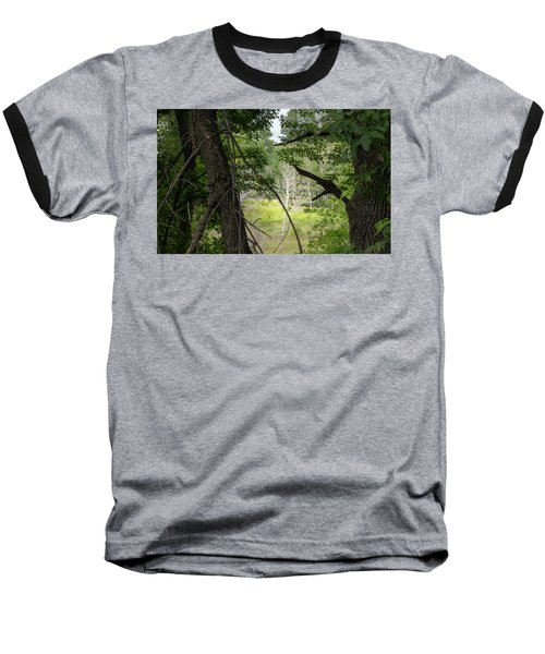 White Tree In Magic Forest Baseball T-Shirt