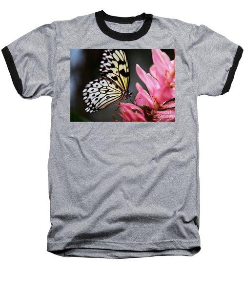 White Tree Nymph Baseball T-Shirt