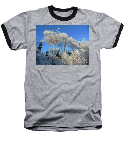 White Trees Clear Skies Baseball T-Shirt