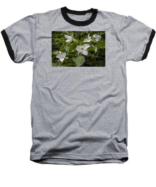 White Trillium Baseball T-Shirt
