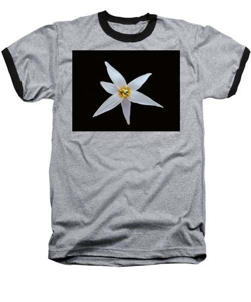 White Trout Lily Baseball T-Shirt