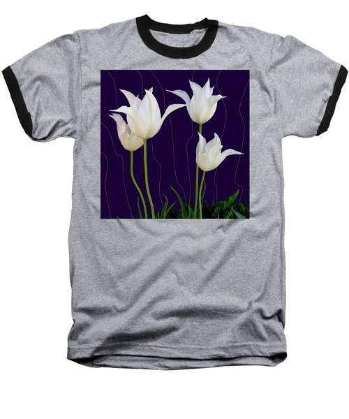 White Tulips For A New Age Baseball T-Shirt