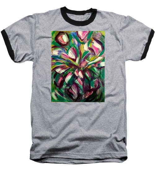 White Tulips Baseball T-Shirt