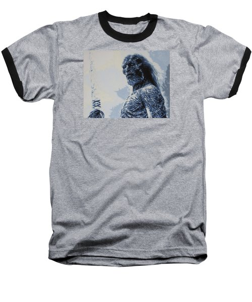 Baseball T-Shirt featuring the painting White Walker by Luis Ludzska