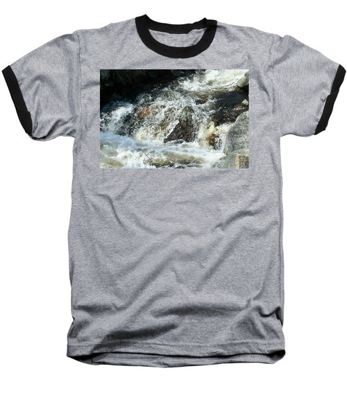 Baseball T-Shirt featuring the digital art White Water by Barbara S Nickerson