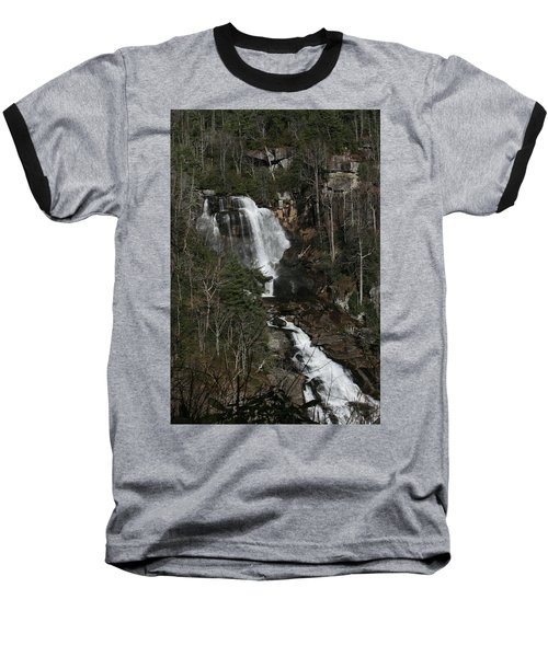 Whitewater Falls Baseball T-Shirt by Cathy Harper
