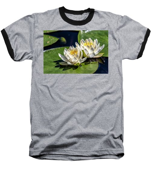 White Water Lilies Baseball T-Shirt