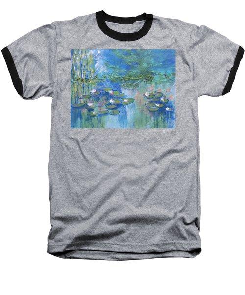 White Water Lilies Baseball T-Shirt