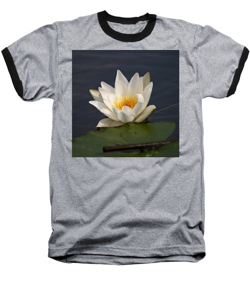 Baseball T-Shirt featuring the photograph White Waterlily 1 by Jouko Lehto