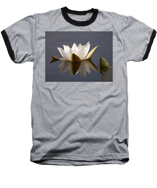Baseball T-Shirt featuring the photograph White Waterlily 2 by Jouko Lehto