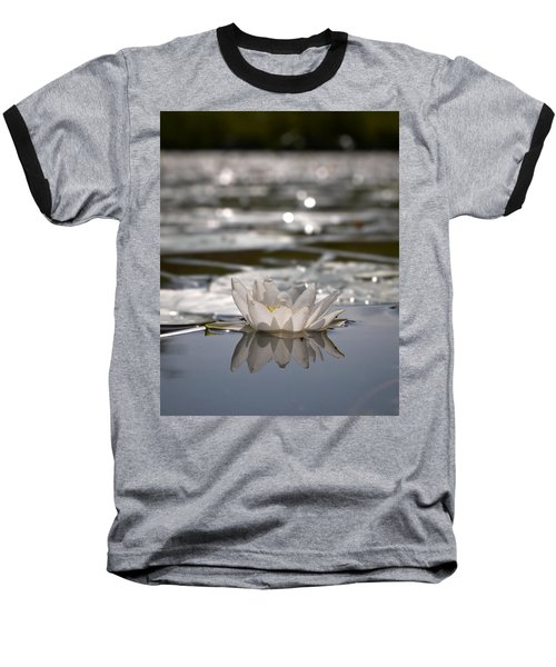 Baseball T-Shirt featuring the photograph White Waterlily 3 by Jouko Lehto