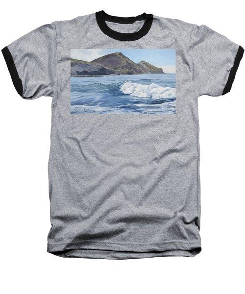 White Wave At Crackington  Baseball T-Shirt