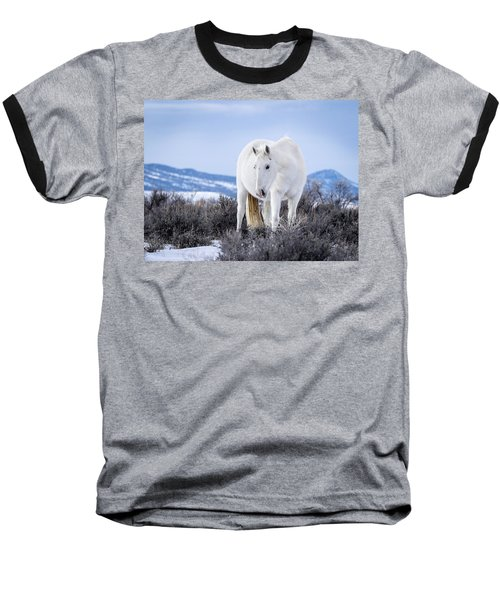 White Wild Horse Mystic Of Sand Wash Basin Baseball T-Shirt