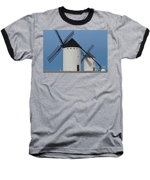 Baseball T-Shirt featuring the photograph White Windmills by Heiko Koehrer-Wagner