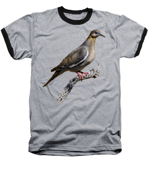 White-winged Dove V53 Baseball T-Shirt by Mark Myhaver