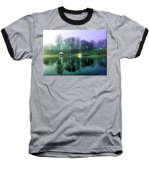 Baseball T-Shirt featuring the photograph White's Cove Awakening by Brian Wallace