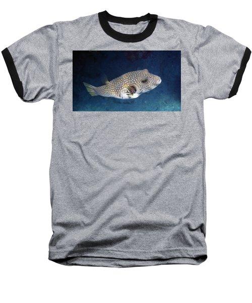 Whitespotted Pufferfish Closeup Baseball T-Shirt